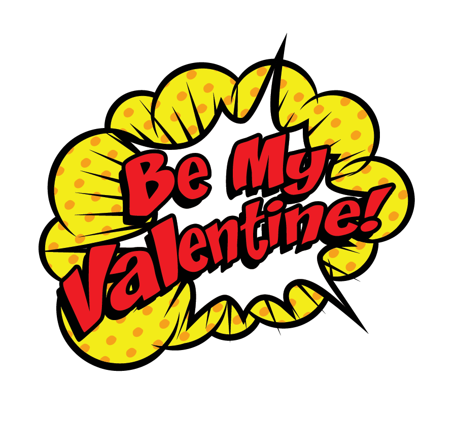 Be my valentine logo